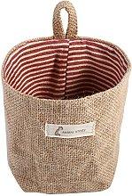 Fdit Cotton Linen Hamper Hanging Clothes Bag Home