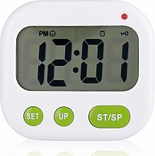 Fdit Household Digital LCD Alarm Clock Electronic