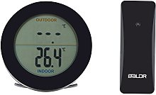 Fdit Wireless Indoor Outdoor Thermometer LCD