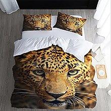 FDONTR 2/3Pcs Duvet Cover Set 3D Print Leopard