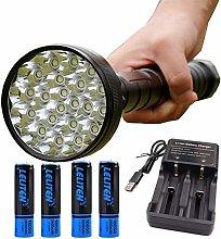 FDSJKD 28*T6 LED Powerful torches flashlight
