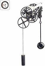 FDYD Gear pendulum wall clock, Mechanical Silent