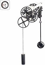 FDYD Gear pendulum wall clock, Mechanical Silent