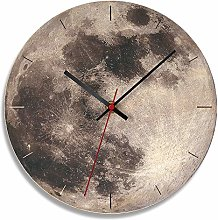 FDYD Luminous Wall Clock,Glow in The Dark Moon