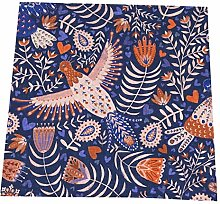 Feamo 20 Inch Cloth Napkins,All My Birds Blue