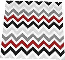 Feamo 20 Inch Cloth Napkins,Dark Red Black Gray
