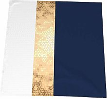Feamo 20 Inch Cloth Napkins,Elegant Gold Navy