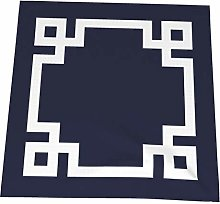 Feamo 20 Inch Cloth Napkins,Navy Blue And White