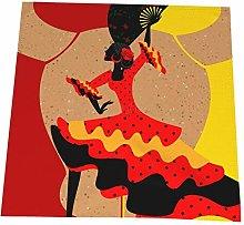 Feamo 20 Inch Cloth Napkins,Spanish Dancer