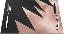 Feamo Modern Girly Rose Gold Black Geometric Art