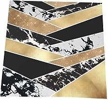 Feamo Napkin cloth Set of 4, Modern Gold Black