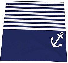 Feamo Napkin cloth Set of 4, Navy Blue Love Anchor