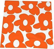 Feamo Napkin cloth Set of 4, Orange Retro Flowers
