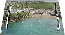 Feamo Port Isaac Cornwall Table Placemats Washable