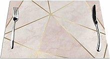 Feamo Zara Shimmer Metallic Soft Pink Gold Table
