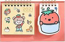FEANG 2021 Desk Calendar Cute Desktop Standing