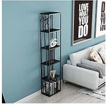FEANG 5 Tier Bookshelf Metal Tall Bookcase