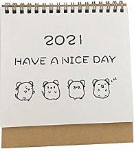 FEANG Desk Calendar 2021 Simple Desktop Standing