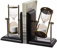 FEANG Desk Hourglass Book Ends for Shelves