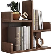 FEANG Desktop Bookshelf Office Small Desk Storage