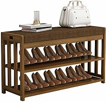 FEANG Shoe Rack 2 Tier Bamboo Shoe Rack with