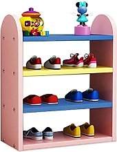 FEANG Shoe Rack Creative Shoe Rack 4-Tiers Wooden
