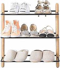FEANG Shoe Rack Modern 3 Tiers Shoe Rack Wooden