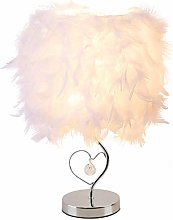 Feather Bedside Lamp Bedside Lampshade Modern