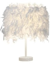 Feather creativity individuality table lamp, E27