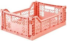 Feather & Nest - Midi Folding Storage Crate Coral