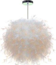 Feather Pendant Light White Modern Chandelier