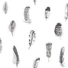 Feathers 10m x 53cm Matte Wallpaper Roll East