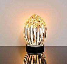Febland Art Deco Flower Small Mosaic Egg Lamp,