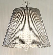 Febland Large Conical Tube Chandelier, Chrome,