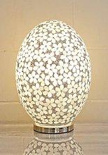 Febland Large Opaque Flower Tile Egg Lamp