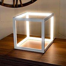 Febland LED White Box Table Lamp