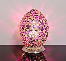 Febland Magenta Flower Medium Mosaic Glass Egg