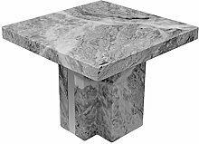 Febland Newcastle Grey Marble Lamp Table, Large