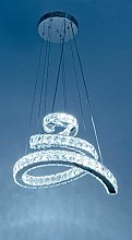 Febland Remote Control LED Snake Chandelier, White