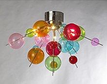 Febland Sputnik Multi Coloured Chandelier, Chrome,