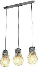 Febland Three Bulb Chandelier, Chrome, Silver