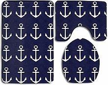 Fedso Nautical Navy Blue Anchor Of Sailor Non Slip