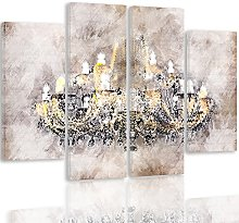 Feeby. Multipart Canvas - 4 Parts - Wall Art
