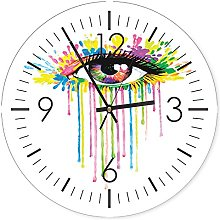Feeby, Wall Clock, Multi-colour, Deco Panel