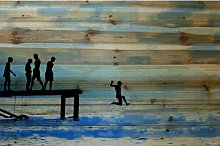 Feet First' Graphic Art Print on Wood