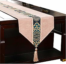 FeiFei Table Runner Washable Cotton Linen