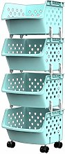 FeiGuo Storage Shelf, 4 Tier Storage Cart With