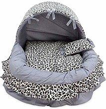 FEIHAIYANYcwm Dog Beds Dog Bed Warm Wool Lace