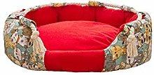 FEIHAIYANYcwm Dog Beds Luxurious Canvas Dog Bed