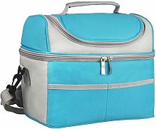 Felokont 2 Compartments Insulated Lunch Bag Lunch